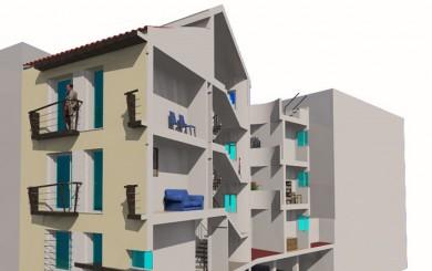 Edificio de 6 viviendas y aparcamientos